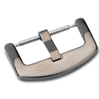 201 Stainless Steel Pin Buckle, black ionic, different size for choice, 20mm, Sold By PC