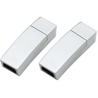Stainless Steel Magnetic Clasp, Rectangle, original color, Hole:Approx 3x6mm, Sold By PC