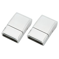 Stainless Steel Magnetic Clasp, Rectangle, original color, Hole:Approx 3.5x12mm, Sold By PC