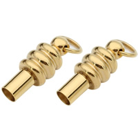Brass Screw Clasp, Stainless Steel, gold color plated, Hole:Approx 3mm, 2PCs/Bag, Sold By Bag