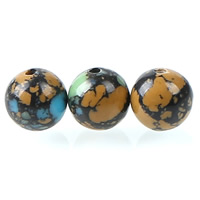 Mosaic Turquoise Beads, Round, different size for choice, Hole:Approx 1mm, Sold By PC