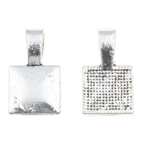 Zinc Alloy Glue on Bail, Rectangle, antique silver color plated, lead & cadmium free, 10x18x5mm, Hole:Approx 3x5mm, 100G/Bag, Sold By Bag