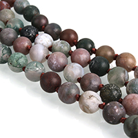 Natural Indian Agate Beads, Round, different length for choice & frosted, 8mm, Hole:Approx 1mm, Sold By Strand