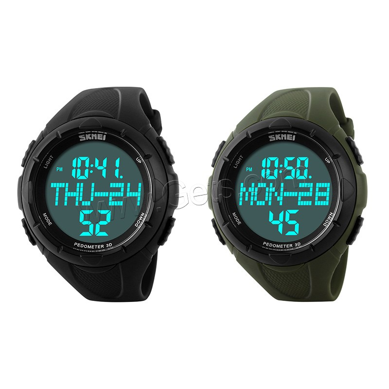 comeon® Unisex Jewelry Watch, Silicone, with Plastic, LED & waterproof, more colors for choice, 46mm, Length:Approx 9.8 Inch, Sold By PC