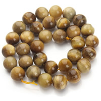Tiger Eye Beads, Round, different size for choice, yellow, Hole:Approx 1mm, Length:Approx 15.5 Inch, Sold By Strand