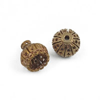 Brass Bead Cap, hollow, original color, lead & cadmium free, 8x9mm, Hole:Approx 1-1.5mm, Sold By PC