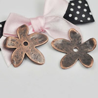 Brass Bead Cap, Zinc Alloy, Flower, antique copper color plated, lead & cadmium free, 30x32mm, Hole:Approx 1-1.5mm, Sold By PC