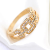 Cubic Zirconia Micro Pave Brass Finger Ring, Donut, plated, micro pave cubic zirconia, more colors for choice, nickel, lead & cadmium free, 21mm, US Ring Size:8, Sold By PC