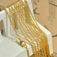 Iron Oval Chain, plated, more colors for choice, lead & cadmium free, 2x3mm, Length:Approx 29.9 Inch, Sold By Strand