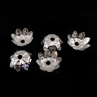 Iron Bead Caps, Flower, platinum color plated, lead & cadmium free, 10.5x10.5mm, Hole:Approx 1mm, 1000PCs/Bag, Sold By Bag