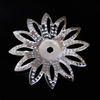 Iron Bead Caps, Flower, platinum color plated, lead & cadmium free, 20mm, Hole:Approx 1mm, 1000PCs/Bag, Sold By Bag