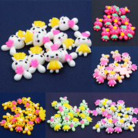 Mobile Phone DIY Decoration, Resin, Rabbit, flat back, mixed colors, 16x24mm, Sold By PC