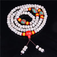 108 Mala Beads, Xingyue Bodhi, with Indonesia & Red Agate & Yellow Agate, synthetic, Buddhist jewelry & Unisex & 4-strand, 6x8mm, Length:Approx 27 Inch, 108PCs/Strand, Sold By Strand
