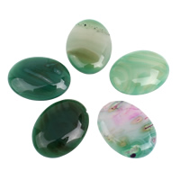 Agate Cabochon, Lace Agate, Flat Oval, flat back, 30x40x6mm-30x40x7mm, 5PCs/Bag, Sold By Bag