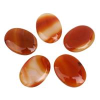 Agate Cabochon, Lace Agate, Flat Oval, flat back, reddish orange, 30x40x5mm-30x40x6mm, 5PCs/Bag, Sold By Bag