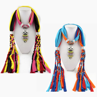 Polyester Long Pendant Scarf, with Zinc Alloy, Owl, plated, for woman & enamel & with rhinestone, more colors for choice, 1800x400mm, Sold By Strand