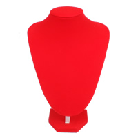 Velveteen Necklace Display, with Cardboard, red, 200x240x130mm, Sold By PC