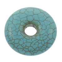 Synthetic Turquoise Linking Ring, Donut, blue, 30x6.5mm, Hole:Approx 7mm, Sold By PC