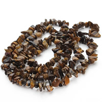 Tiger Eye Beads, Nuggets, 5-8mm, Hole:Approx 1.5mm, Length:Approx 31 Inch, Approx 120PCs/Strand, Sold By Strand