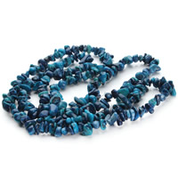 Synthetic Coral Beads, Nuggets, blue, 5-8mm, Hole:Approx 1.5mm, Length:Approx 31 Inch, Approx 120PCs/Strand, Sold By Strand
