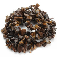 Tiger Eye Beads, Nuggets, 8-12mm, Hole:Approx 1.5mm, Length:Approx 31 Inch, Approx 76PCs/Strand, Sold By Strand