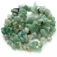 Green Aventurine Bead, Nuggets, 8-12mm, Hole:Approx 1.5mm, Length:Approx 31 Inch, Approx 76PCs/Strand, Sold By Strand