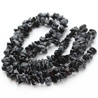 Snowflake Obsidian Bead, Nuggets, 5-8mm, Hole:Approx 1.5mm, Length:Approx 31 Inch, Approx 120PCs/Strand, Sold By Strand