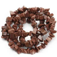 Goldstone Beads, Nuggets, 8-12mm, Hole:Approx 1.5mm, Length:Approx 31 Inch, Approx 76PCs/Strand, Sold By Strand