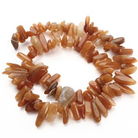 Red Aventurine Bead, Nuggets, 8-25mm, Hole:Approx 1.5mm, Length:Approx 15.5 Inch, Approx 36PCs/Strand, Sold By Strand