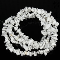 Synthetic Turquoise Beads, Nuggets, white, 5-8mm, Hole:Approx 1.5mm, Length:Approx 31 Inch, Approx 120PCs/Strand, Sold By Strand