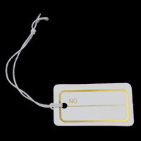 Jewelry Price Tag, Paper, Rectangle, with letter pattern, 30x17x0.1mm, 1000PCs/Bag, Sold By Bag