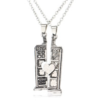 Couple Zinc Alloy Necklace, with iron chain, Rectangle, plated, Unisex & oval chain & with letter pattern & blacken, lead & cadmium free, 20x40mm, Length:Approx 17.5 Inch, Sold By Pair
