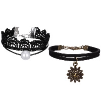 Lace Bracelet, with Glass Pearl & Zinc Alloy, with 1.9lnch extender chain, plated, different styles for choice & for woman, Length:Approx 6.3 Inch, Sold By Strand