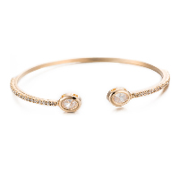 comeon® Jewelry Bracelet, Brass, gold color plated, open & for woman & with cubic zirconia, Inner Diameter:Approx 55mm, Length:Approx 7 Inch, Sold By PC