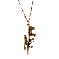 comeon® Jewelry Necklace, Zinc Alloy, with 1.9lnch extender chain, Gun, antique bronze color plated, oval chain & for woman, 25x64mm, Length:Approx 18.1 Inch, Sold By Strand