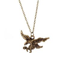 comeon® Jewelry Necklace, Zinc Alloy, with 1.9lnch extender chain, Eagle, antique bronze color plated, oval chain & for woman, 35x48mm, Length:Approx 18.1 Inch, Sold By Strand