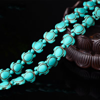 Synthetic Turquoise Beads, Turtle, 14x17x7mm, Length:Approx 15.5 Inch, Approx 23PCs/Strand, Sold By Strand