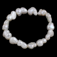 Cultured Freshwater Pearl Bracelets, Keishi, natural, 14-18mm, Length:Approx 7.5 Inch, Sold By Strand