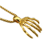 Stainless Steel Pendants, Claw, gold color plated, 30x44mm, Hole:Approx 3-5mm, Sold By PC