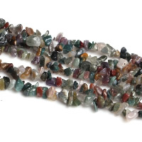 Natural Indian Agate Beads, Nuggets, 3-8mm, Hole:Approx 0.5-1mm, Length:Approx 35.4 Inch, Sold By Strand