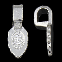 Zinc Alloy Glue on Bail, silver color plated, lead & cadmium free, 6x16x5mm, Hole:Approx 3x3.5mm, Inner Diameter:Approx 3x5mm, 100G/Bag, Sold By Bag