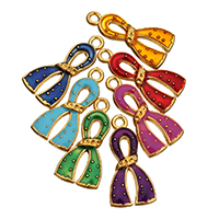 Awareness Ribbon Pendant, Zinc Alloy, gold color plated, enamel, more colors for choice, 13x27x2mm, Hole:Approx 2mm, Sold By PC