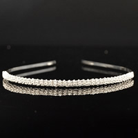 Bridal Tiaras, Brass, platinum color plated, for bridal & with rhinestone, nickel, lead & cadmium free, 300mm, Sold By PC