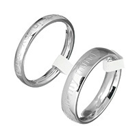 Stainless Steel Finger Ring, different size for choice & different styles for choice & with letter pattern, original color, Sold By PC