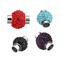 Stainless Steel Magnetic Clasp, hand polished & different size for choice, more colors for choice, Sold By PC