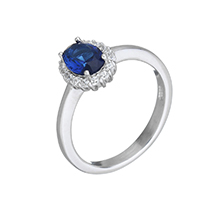Cubic Zirconia Micro Pave Sterling Silver Finger Ring, 925 Sterling Silver, micro pave cubic zirconia & for woman, 8x9.5x5mm, US Ring Size:6, Sold By PC
