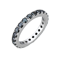 Cubic Zirconia Micro Pave Sterling Silver Finger Ring, 925 Sterling Silver, micro pave cubic zirconia & for woman, 3mm, US Ring Size:8, Sold By PC