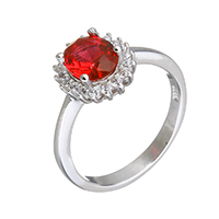Cubic Zirconia Micro Pave Sterling Silver Finger Ring, 925 Sterling Silver, micro pave cubic zirconia & for woman, 10x11x5.5mm, US Ring Size:6, Sold By PC