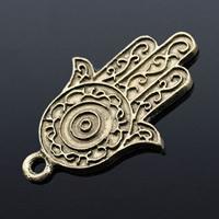 Zinc Alloy Hamsa Pendants, antique bronze color plated, lead & cadmium free, 33.5x23.3mm, Hole:Approx 2mm, 100PCs/Bag, Sold By Bag