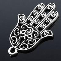 Zinc Alloy Hamsa Pendants, antique silver color plated, lead & cadmium free, 30x20.2mm, Hole:Approx 2mm, 150PCs/Bag, Sold By Bag